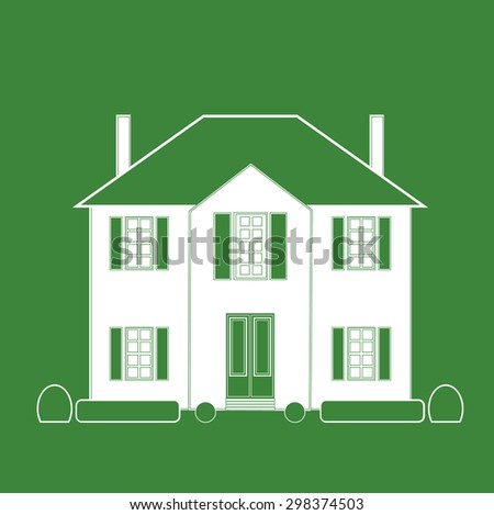 French mansion. Vector illustration - stock vector