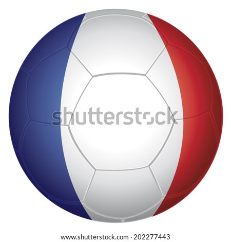 French soccer ball with flag of France. Vector illustration. - stock vector