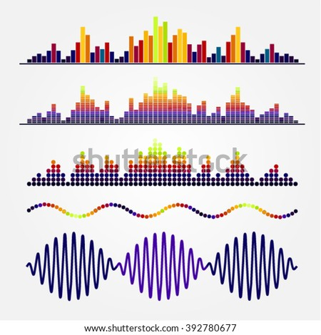 frequencies - stock vector