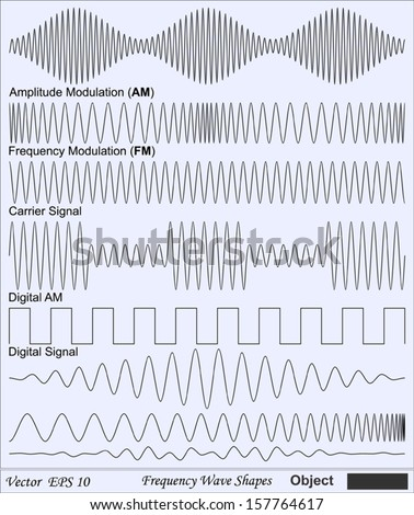 Frequency Wave Shapes - Object - stock vector