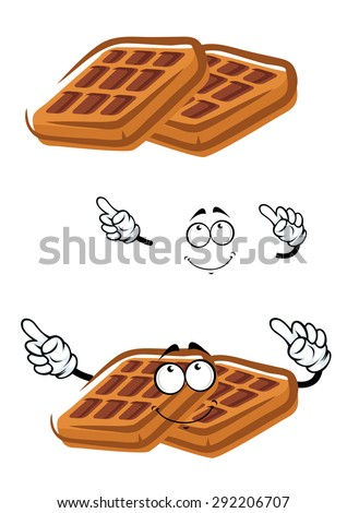 Waffels Stock Vectors & Vector Clip Art   Shutterstock Cartoon Waffle With Face