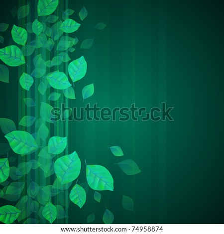 Fresh Green Background - stock vector