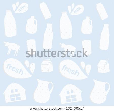 fresh milk retro background - stock vector
