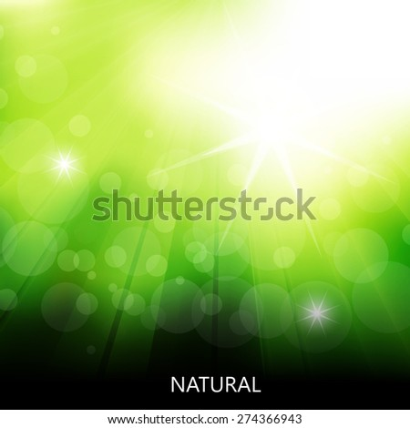 Fresh natural background, easy all editable - stock vector