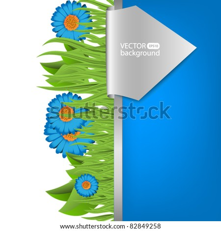 Fresh nature background - stock vector