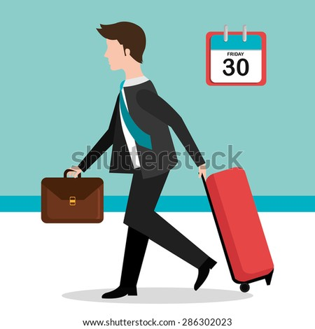 Friday design over blue background, vector illustration. - stock vector