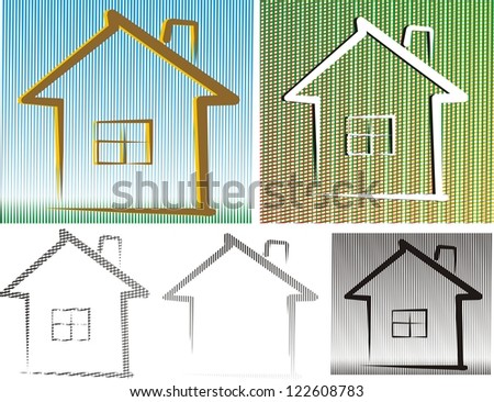 friedly house - background and isolated - stock vector