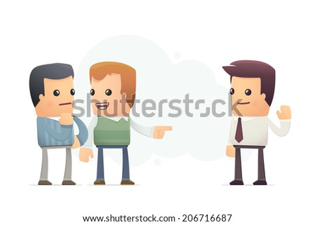 friend advised good firm. conceptual illustration - stock vector
