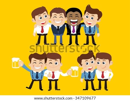 Friends and friendly relation concept - stock vector