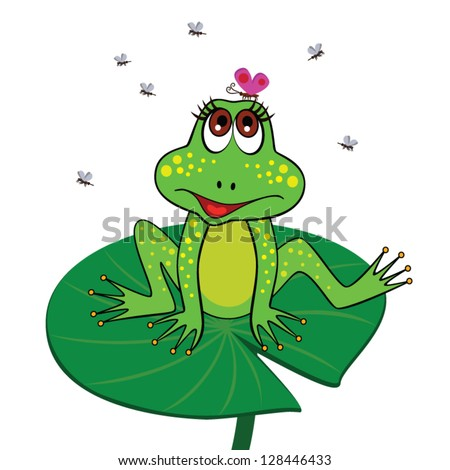 Frog Lily Pad Template Frog Sitting on a Lily Pad