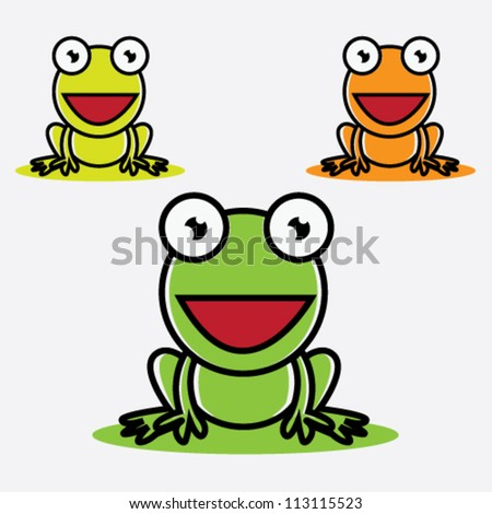 Frog Vector Illustration - stock vector