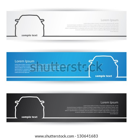 Front car banners - vector illustration - stock vector