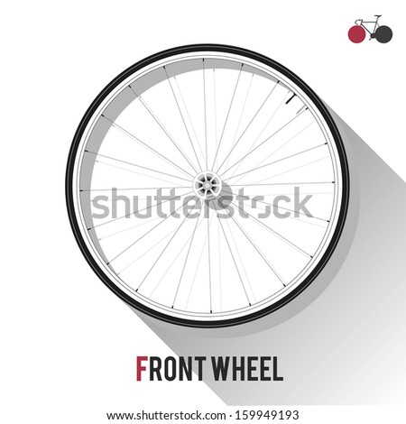 Front Wheel - stock vector