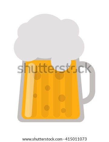 Frosty glass of light beer set isolated on white background. Beer cup alcohol and beer cup lager yellow beverage. Beer cup mug liquid white foam and bubble foam beer cup cold drip refreshment. - stock vector