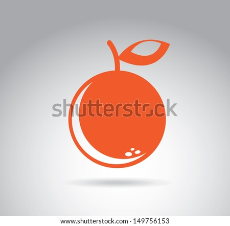 fruit design over gray background vector illustration - stock vector