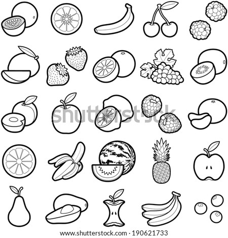 Fruit icon collection - vector illustration  - stock vector