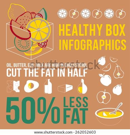Fruit Infographics  :Vector Illustration - stock vector