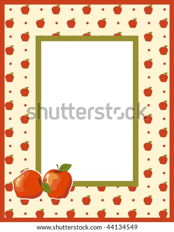 Fruit photo framework - stock vector