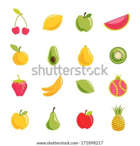 Fruit vector set - stock vector