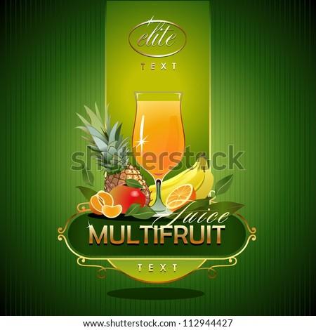 Fruits.  Fresh juice. Vector - stock vector