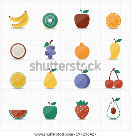 Fruits Icon - stock vector