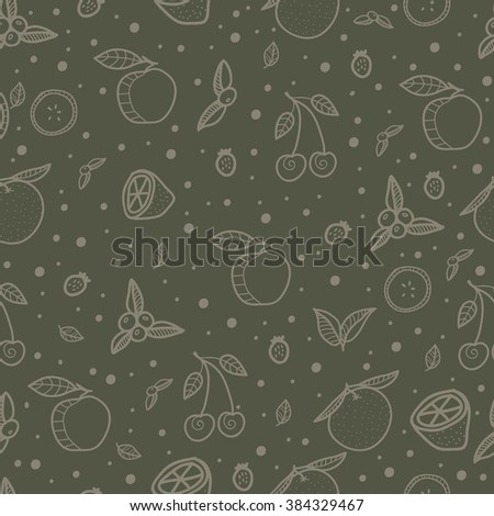 Fruits. Juicy delicious fruits. Juice. Fresh food. Diet. Healthy food. Seamless pattern with cute  fruits. All elements are  hidden under mask. Pattern are not cropped and can be edited.  - stock vector