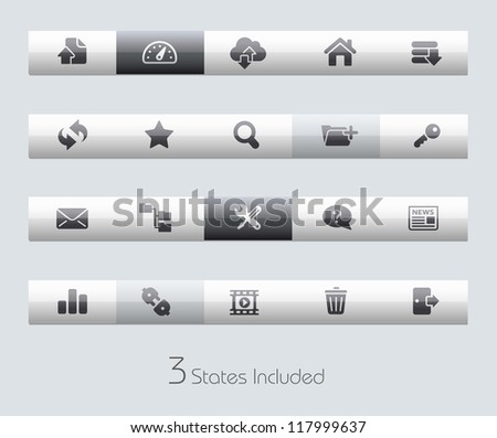 FTP & Hosting // Classic Series +++ It includes 3 buttons states in different layers. +++ - stock vector