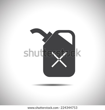 fuel can vector icon - stock vector