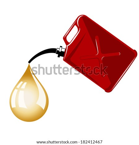 Fuel container or gas can. gradient mesh - stock vector