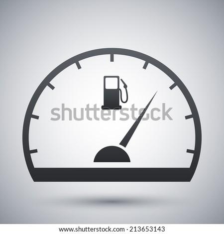 Fuel gauge icon, vector - stock vector