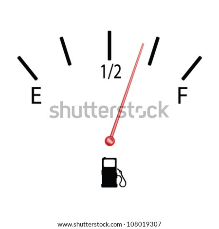 fuel gauge with symbol vector illustration - stock vector
