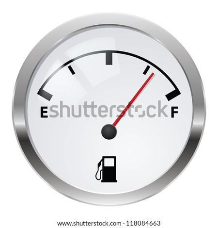 Fuel indicator. Illustration on white background for design - stock vector