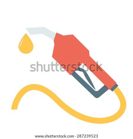 Fuel nozzle add fuel - stock vector