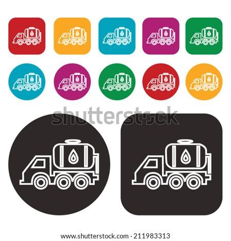 fuel truck icon / oil truck icon - stock vector