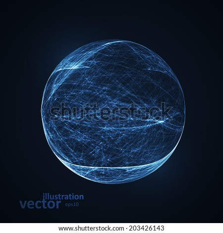 Full blue moon at dark night sky background, futuristic art illustration eps10 - stock vector