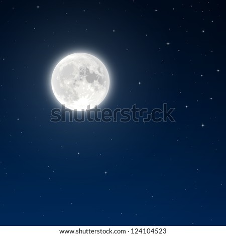 Full moon vector - stock vector