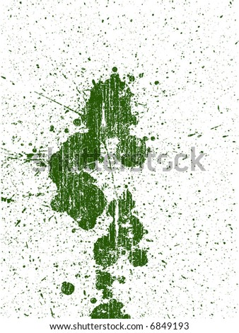 Full Page of Grunge Splats -  Background is transparent so they can be overlayed on other Illustrations or Images. - stock vector