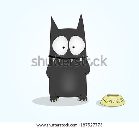 Fun cartoon cat. Vector eps 10 - stock vector