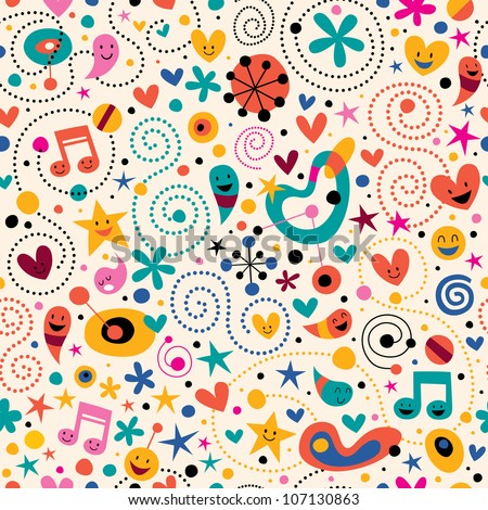 Kids background stock photos images pictures for Fun pattern wallpaper