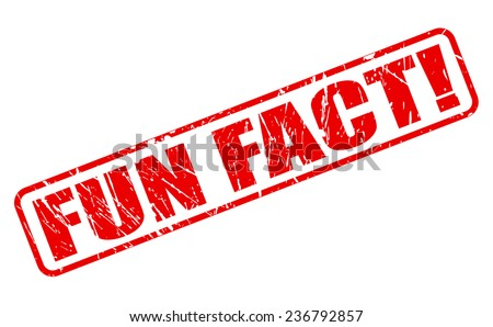 Fun fact red stamp text on white - stock vector