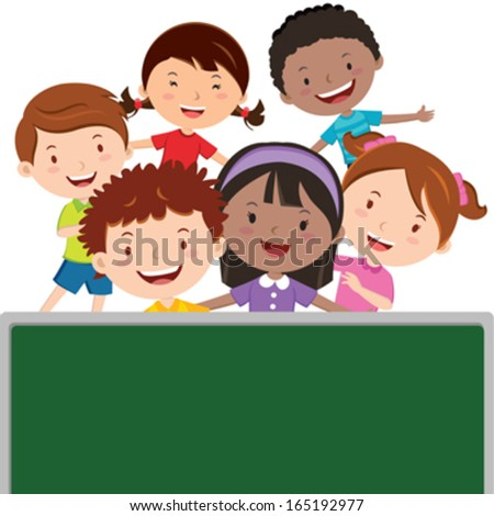 Fun in the classroom  - stock vector