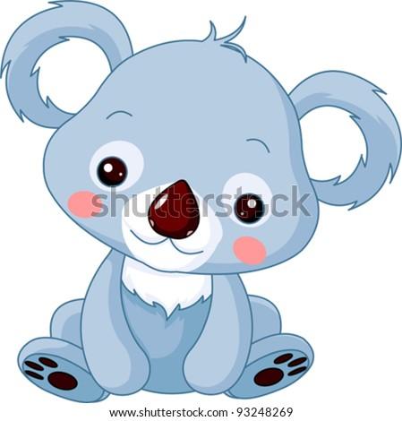 Fun zoo. Illustration of cute Koala Bear - stock vector