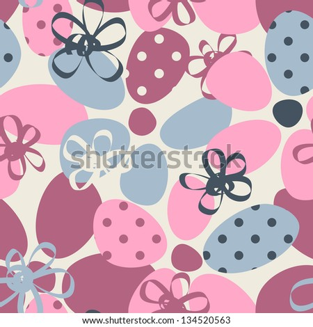 Funky floral pastel seamless pattern - stock vector