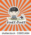 Funky - Punky Vector Illustration - stock vector