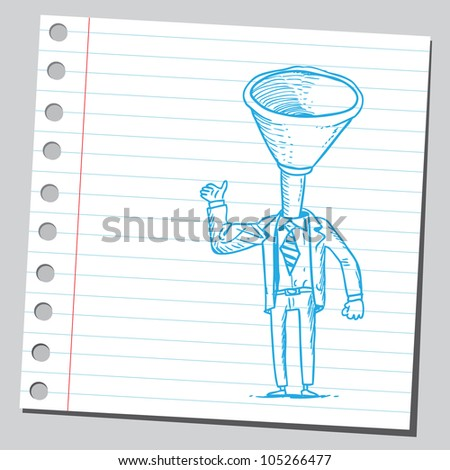 Funnel businessman - stock vector