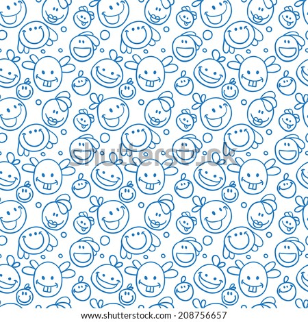 funny character doodle - stock vector