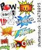 Funny comic book sounds vector - stock vector