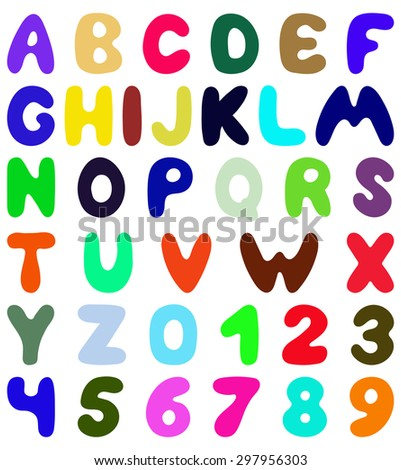 Funny font design. Eps 10 vector illustration without transparency. - stock vector