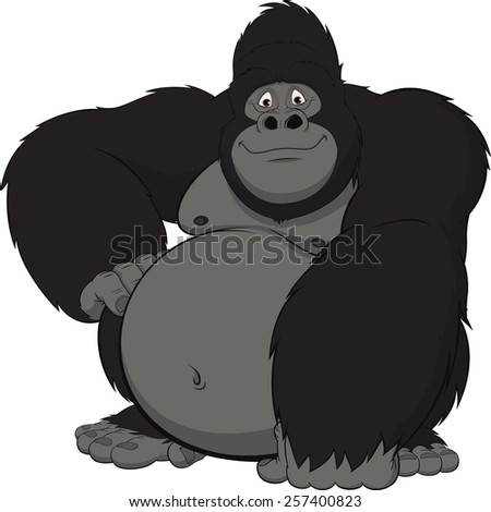 Funny monkey - stock vector