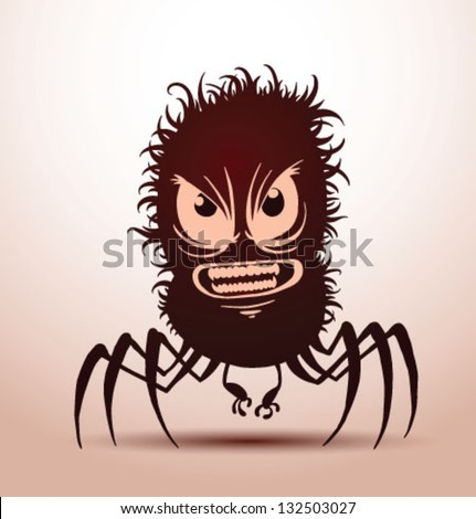 funny monsters silhouette 05, vector - stock vector